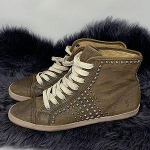 Frye Hi-Top Leather Sneakers